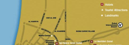 Map of Dubai | Dubai Map | Dubai Hotel, City Map Dubai Map Tourist Attractions on