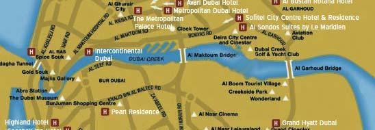 Map of dubai dubai map dubai hotel city map gumiabroncs Choice Image